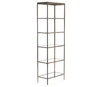 Mitchell Gold + Bob Williams Vienna Antiquie Brass Bookcase