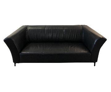 Black Leather 2.5 Seater Sofa