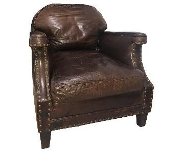 Pottery Barn Leather Armchair