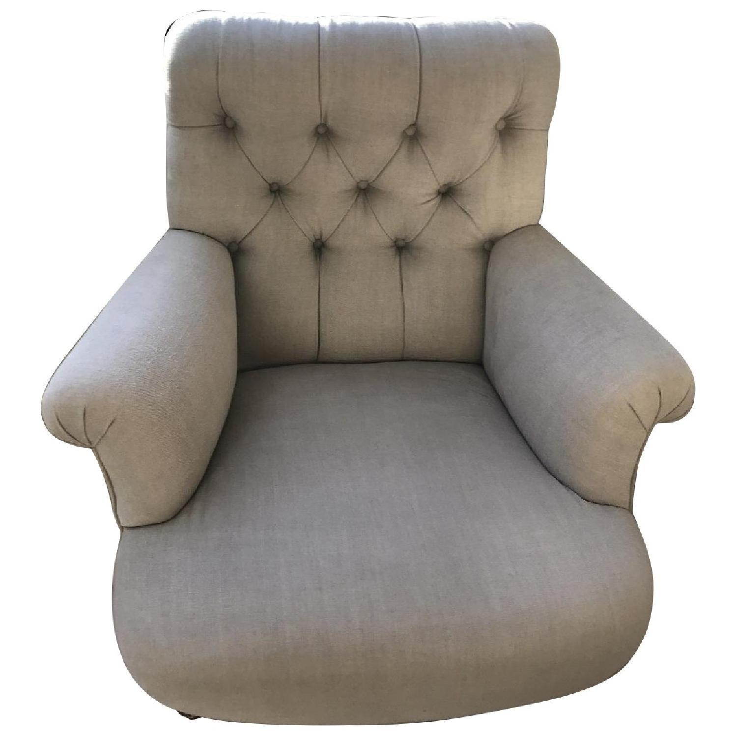 Ralph Lauren Beige Tufted Back Armchair ...