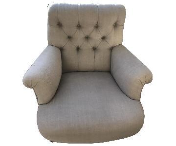 Ralph Lauren Beige Tufted Back Armchair