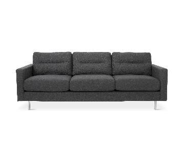 Gus Modern Logan Sofa in Graphite Grey