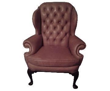 Henkel Harris Leather Wing Chair
