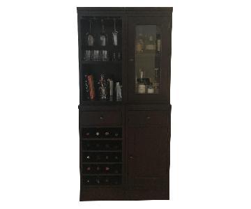 Crate & Barrel Espresso Bar Cabinet