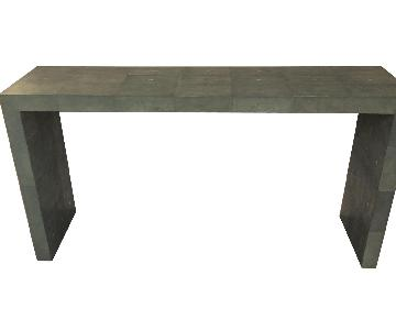 Jerry Pair Shagreen Teal Console Table