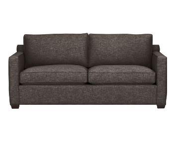Crate & Barrel Davis Charcoal Grey Fabric Sofa