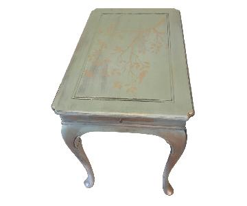 Duck Egg Blue w/ Gold Side Table