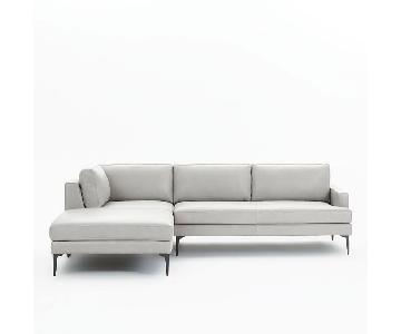 West Elm 2-Piece Andes Large Terminal Chaise Sectional Sofa
