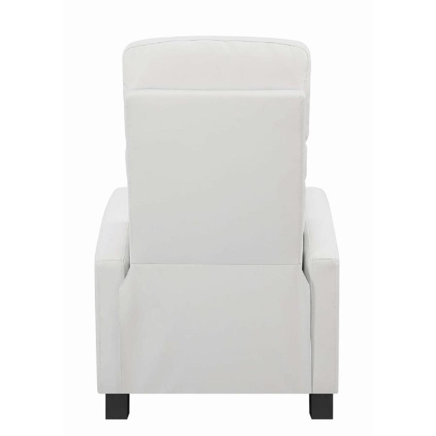 Compact Recliner Chair in White Leatherette-3
