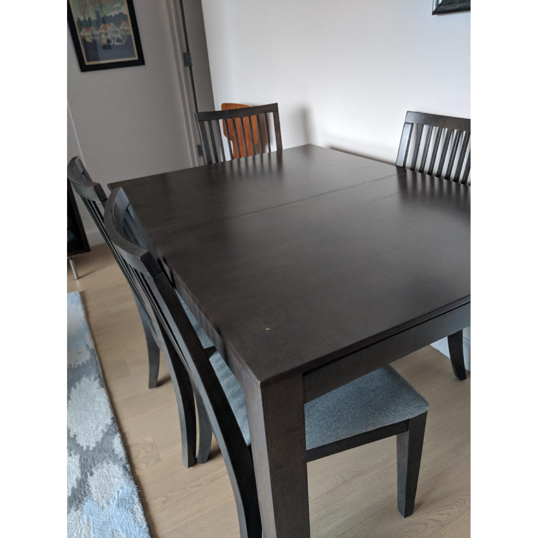 Macys grey dining table w 4 chairs 0