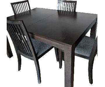 Macy's Grey Dining Table w/ 4 Chairs