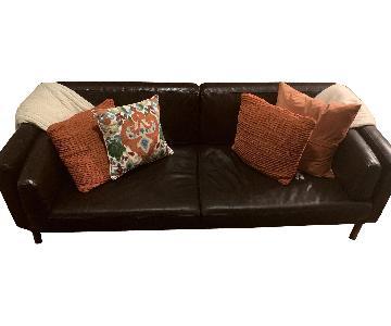 Espresso Leather Sofa