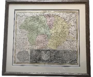 Original 1731 Map of Parma