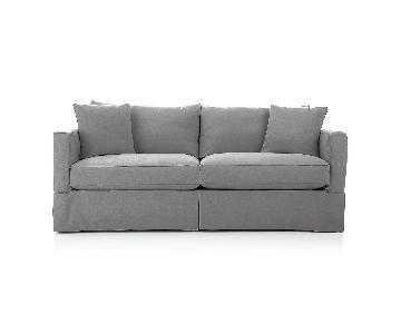 Crate & Barrel Willow Gray Sleeper Sofa
