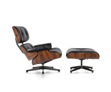 Mid-Century Modern Eames Black Lounge Chair Replica