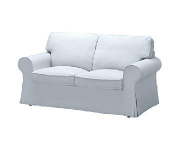 Ikea Ektorp Blue Grey Loveseat