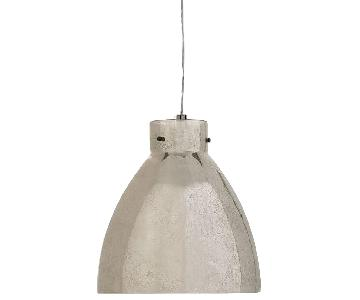 West Elm Industrial Mercury Glass Pendant