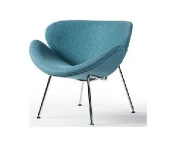 Reproduction Slice Chair by Pierre Paulin in Blue