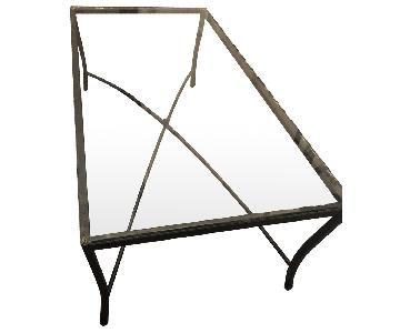 West Elm Wrought Iron Glass Coffee Table