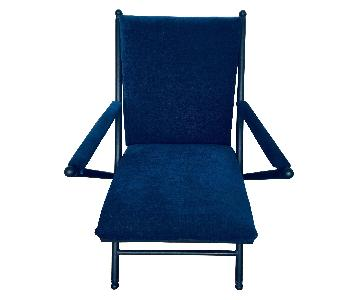 Royal Blue Upholstered Armchair
