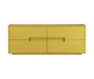 CB2 Latitude Low Dresser in Lacquered Mustard Yellow