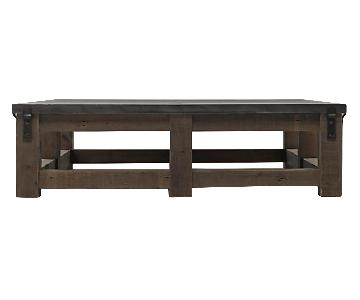 Restoration Hardware Reclaimed Wood & Zinc Top Coffee Table
