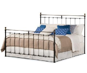 Charles P Rogers Brass Newfield King Sized Bed