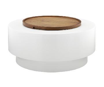 CB2 Ya Ya Coffee Table in White