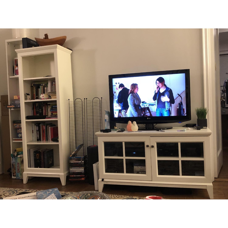 Crate Barrel White Bookcase Tv Stand