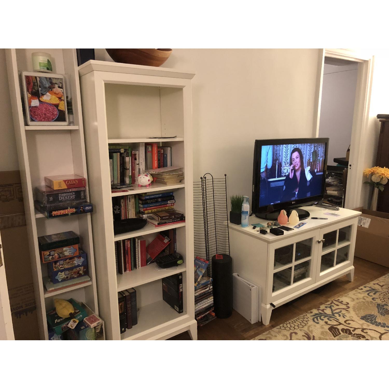 Crate Barrel White Bookcase Tv Stand Aptdeco