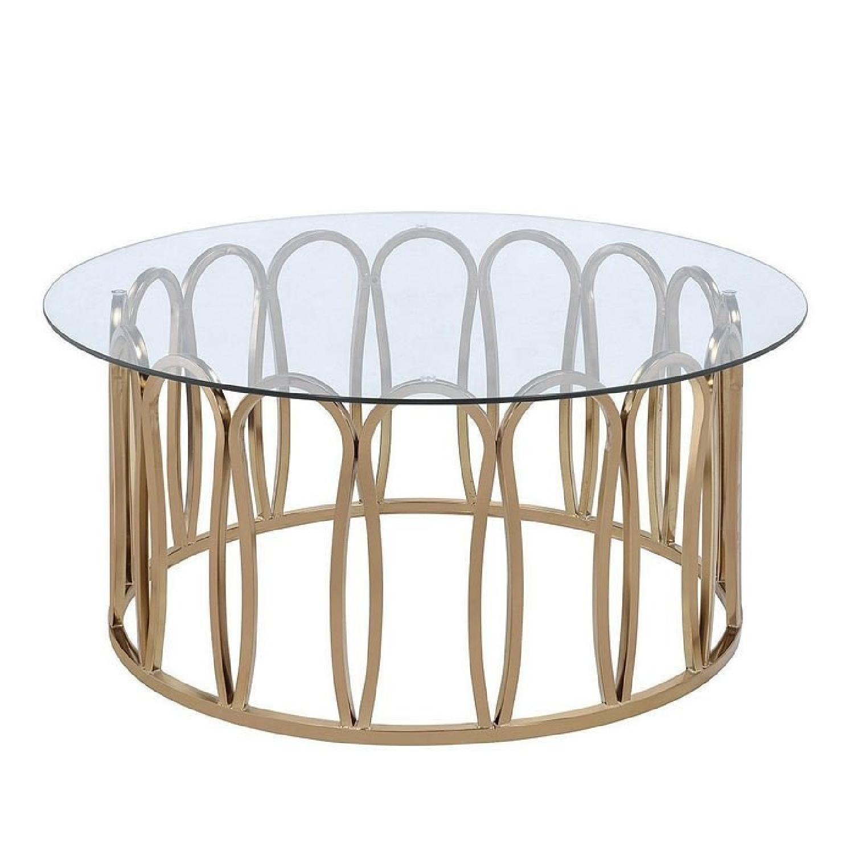 Glass Top Decorative Modern Coffee Table ...