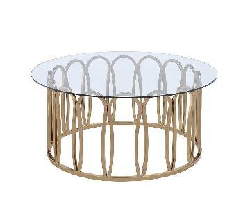 Glass Top Decorative Modern Coffee Table
