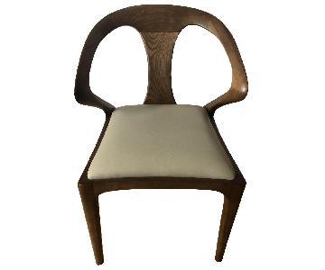 Corrigan Studio Akan Bend Armchair w/ Leather Cushion