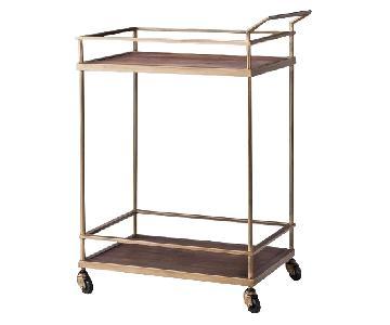 Target Wood & Brass Finish Bar Cart