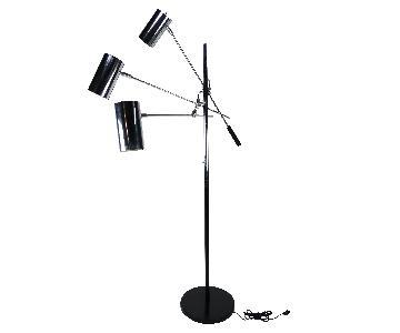 Black & Chrome Sonneman Triennale Floor Lamp