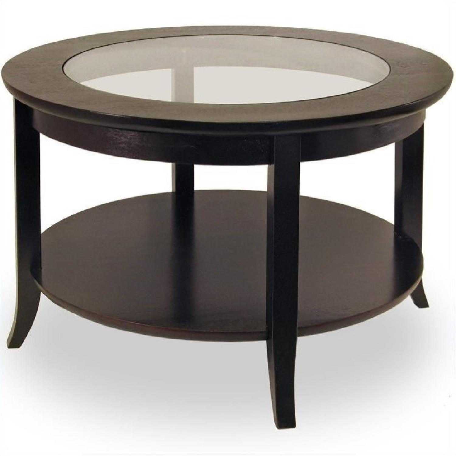 Magnussen Aidan Round Glass Cocktail Table