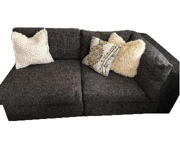Room & Board Right Arm Grey Sofa