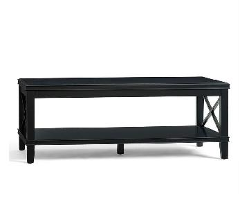 Pottery Barn Black Cassie Coffee Table