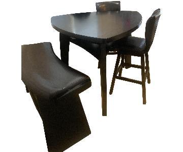 Raymour & Flanigan 4 Piece Bar Height Dining Set