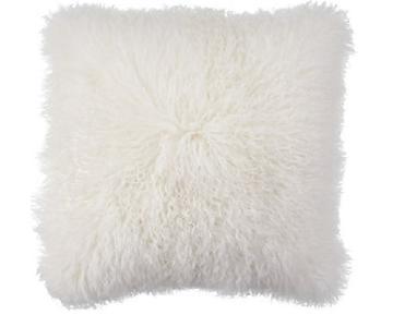 Z Gallerie White Mongolian Fur Pillows