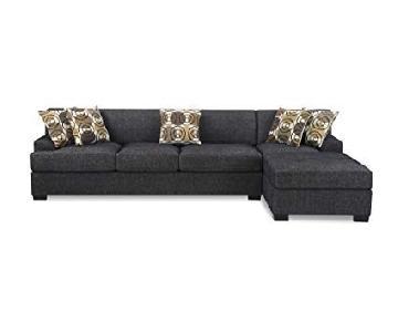 Poundex Montreal Ash Black 2-Piece Sectional Sofa