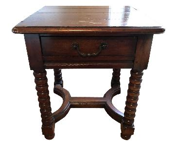 Brown Ornate End Table