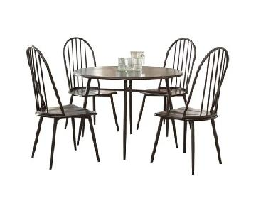 Hughley 5-Piece Dining Set w/ Chair Pads