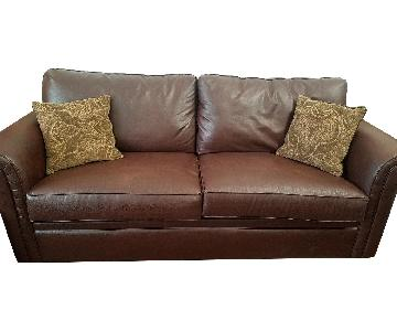 Bob's Faux Leather Queen Size Sleeper Sofa