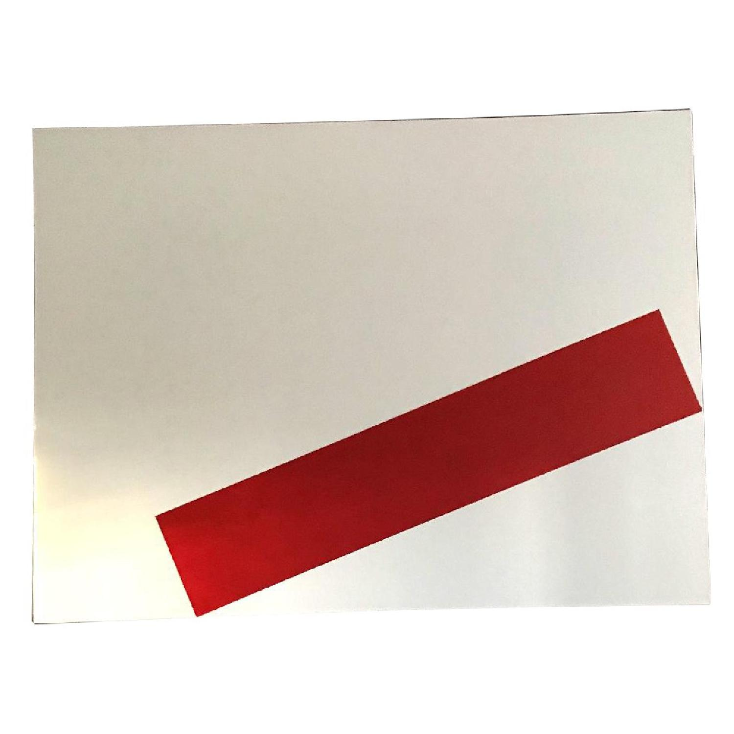 Red Rectangle Original Painting Acrylic on Canvas