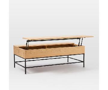 West Elm Large Industrial Storage Pop-Up Coffee Table