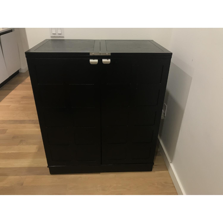 ... Crate U0026 Barrel Steamer Bar Cabinet 3 ...