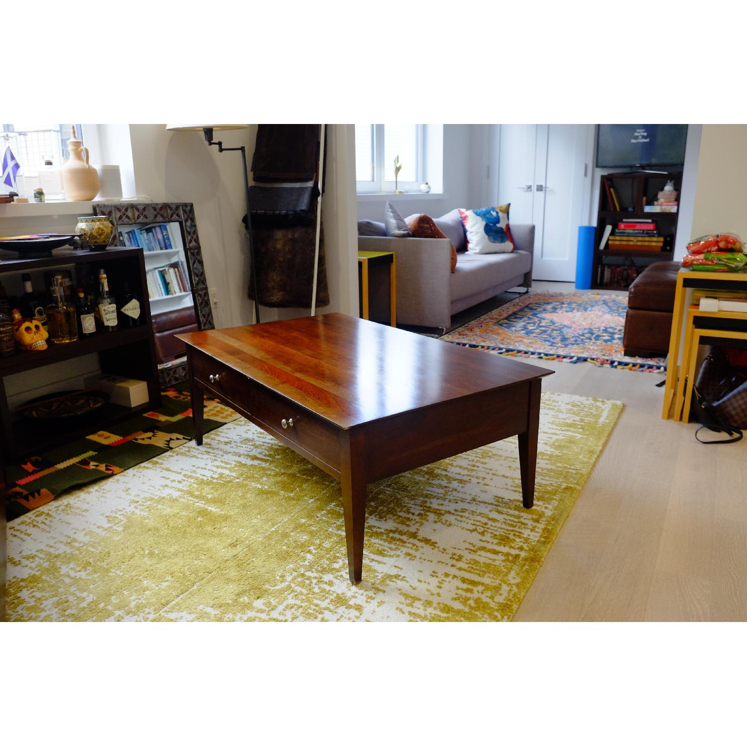 Ethan Allen Arts & Crafts Coffee Table-3