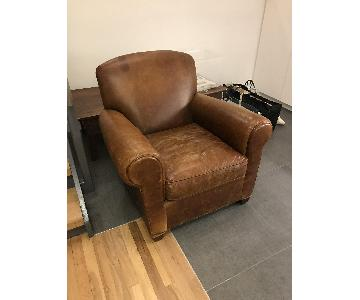 Crate & Barrel Eiffel Leather Chair