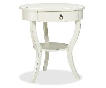 Pottery Barn Carrie Pedestal Bedside Table/Nightstand